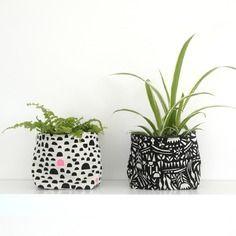 Cache pot en tissu pour une décoration bohème chic