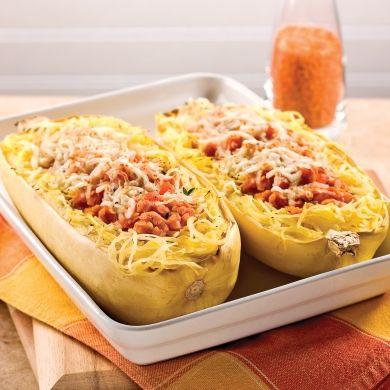 Courge spaghetti et sauce aux lentilles corail - Recettes - Cuisine et nutrition - Pratico Pratiques