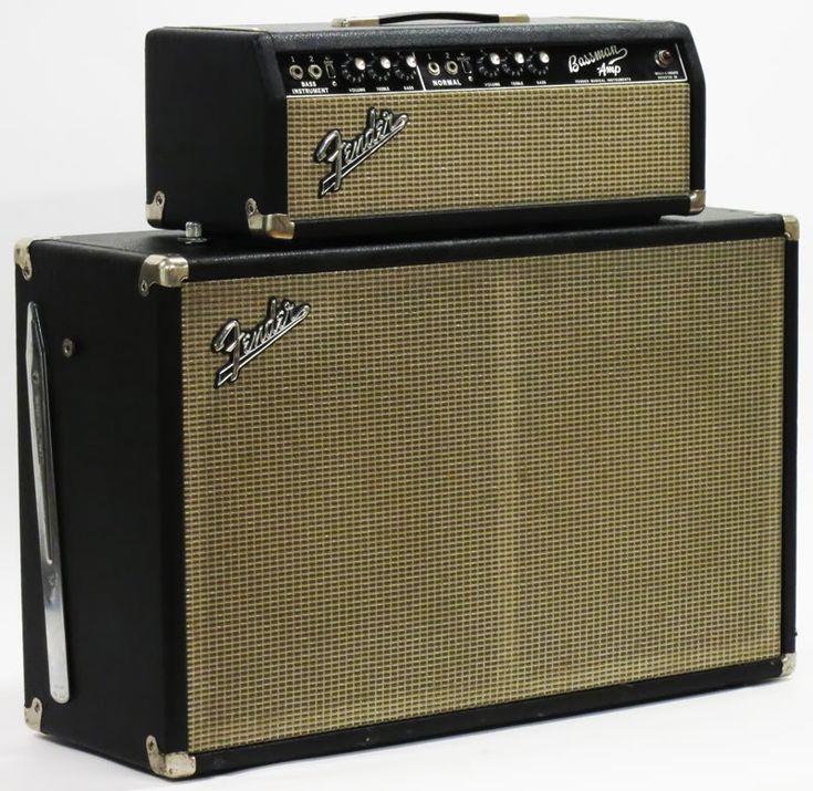vintage fender amps   1966 FENDER BASSMAN AMP VINTAGE TUBE BASS GUITAR PIGGYBACK AMPLIFIER