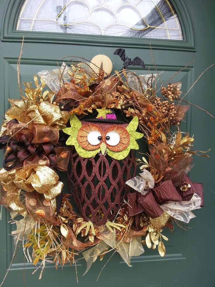 Fall Owl Wreath Come See My Wreaths For Sale On Facebook