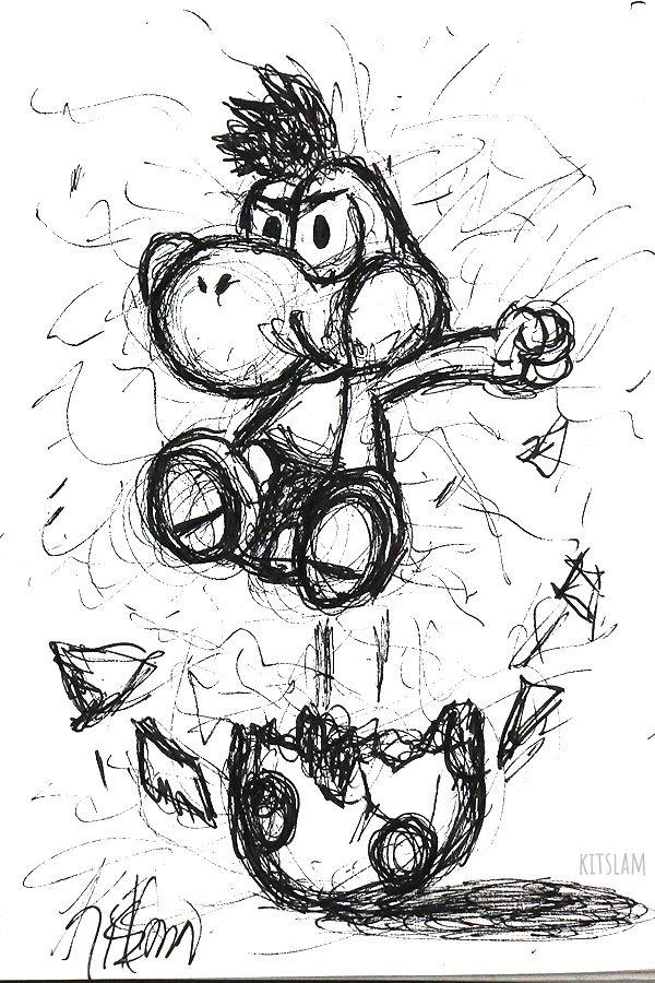 Scribble Drawings Of Nintendo Yoshi Dessin Dessin