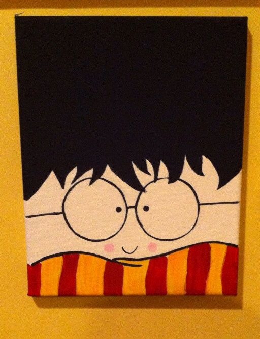 Harry Potter Canvases on Etsy, $20.00