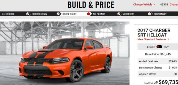 2017 Dodge Hellcat Challenger, Charger Prices Carry Over from 2016