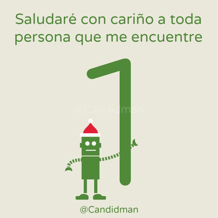 """""""Saludaré con cariño a toda persona que me encuentre"""". @candidman #CalendarioDeAdviento #Diciembre2014 #Navidad"""
