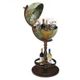 Bar glob pamantesc pe stativ de lemn - un model deosebit de bar glob, care va deveni atractia principala a oricarei incaperi
