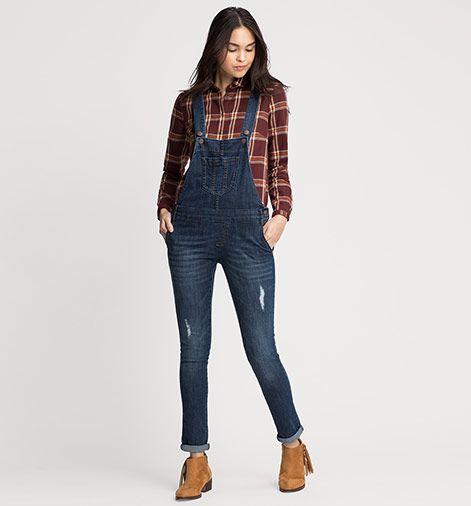 Latzhose in jeans-blau