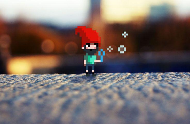 Pixels in photo on Behance-Karina Dehtyar