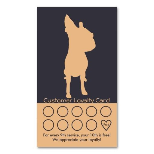 240 best dog trainer business cards images on pinterest business dog grooming business card loyalty card colourmoves