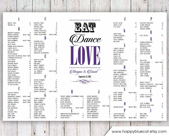 377 best Weddings images on Pinterest Wedding seating charts - free printable seating chart