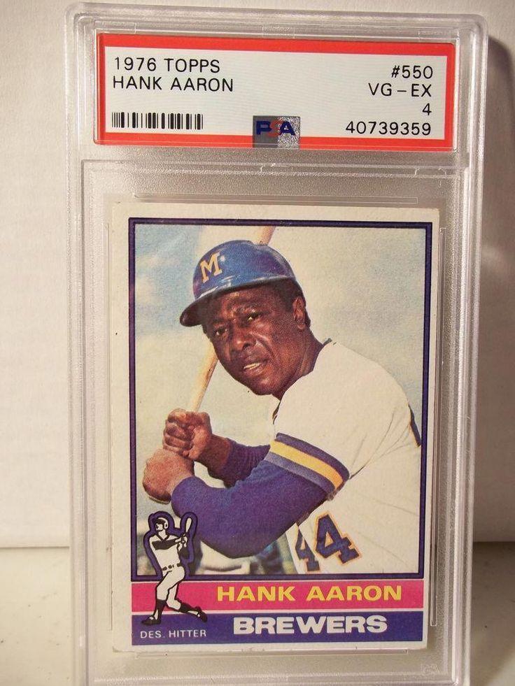 1976 topps hank aaron psa vgex 4 baseball card 550 mlb