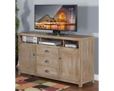 Wonderful Weathered TV Console   Sam Levitz Furniture