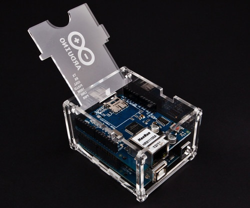 Arduino Uno Ethernet Shield Case Enclosure Gloss Transparent Acrylic Box