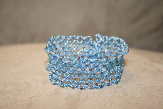 Turquoise net bracelet by MaryLooGifts on Etsy #bracelet #gifts #jewellery #accessories #fashion
