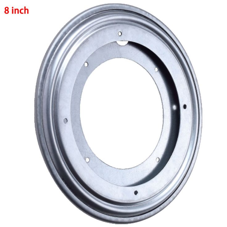 NEW Silver Round Metal Ball Bearing Rotating Table Swivel Plate TV Rack Desk Turntable For Kitchen Tools 8Inch