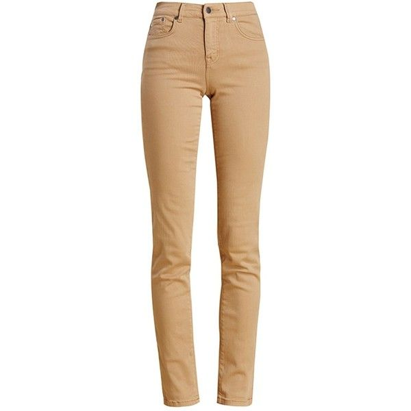 Women's Barbour Essential Slim Trousers - Hessian ($100) ❤ liked on Polyvore featuring pants, 5 pocket pants, beige pants, slim trousers, slim fit pants and barbour