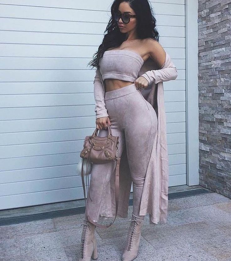 Rhythm and suede tube top and pants || ALYANNAclothing.com