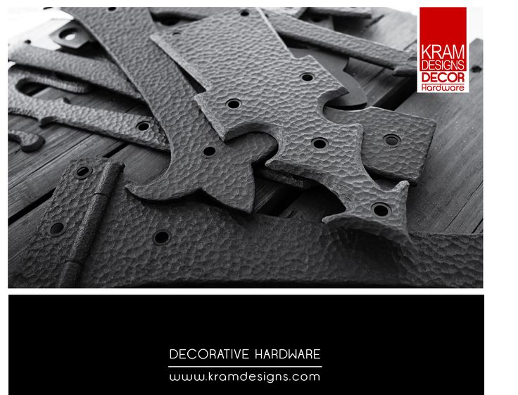 A Collection of False Hinges from Kram Designs Decorative Hardware.