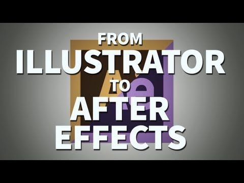 Working From Illustrator to After Effects