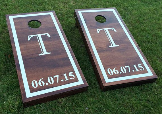 Custom Monogram Wedding Cornhole Boards