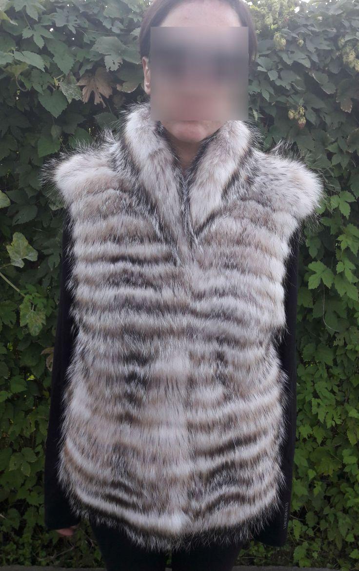 real BADGER FUR VEST-Dachs Pelzweste-Gilet di pelliccia di tasso-mink fur vest by DamianKastorianFurs on Etsy