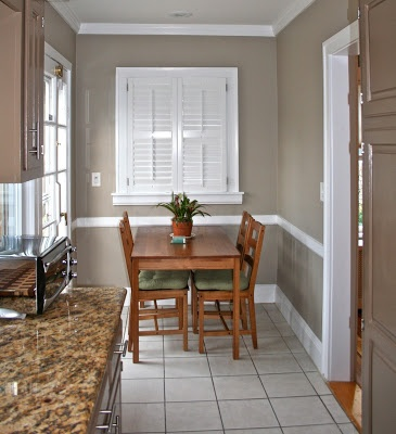 Benjamin Moore pashmina- the winner for the dining room.  A little taupe, a little grey, perfect neutral- no discernible pink, green, or yellow!