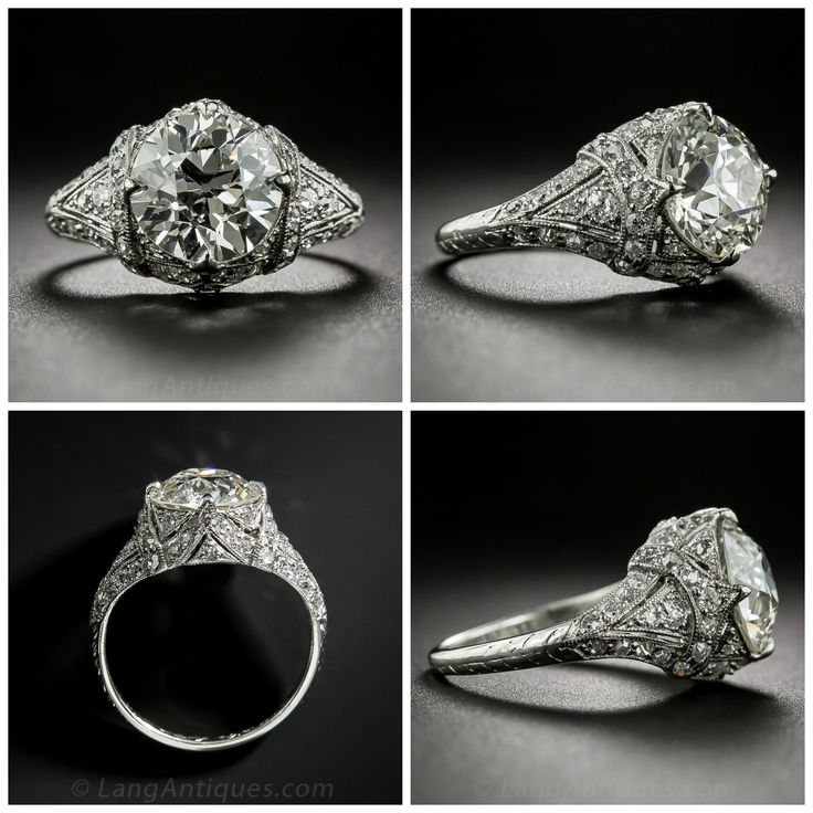 Exceptionally Beautiful Edwardian Engagement Ring (2.26 Carat Diamond!)  http://www.langantiques.com/products/item/10-1-6828