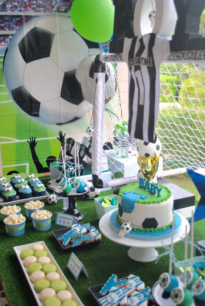 Soccer  Baby Shower Party Ideas | Photo 6 of 19