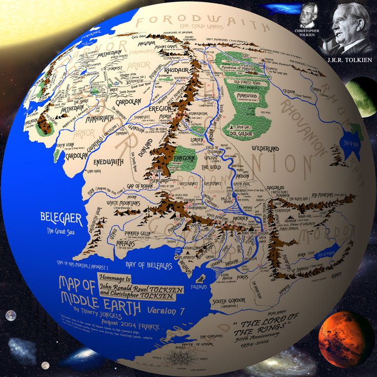 Middle Earth on a Globe WANT