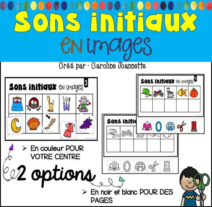 French Initial Sound Match Up Sons Initiaux En Images Sons