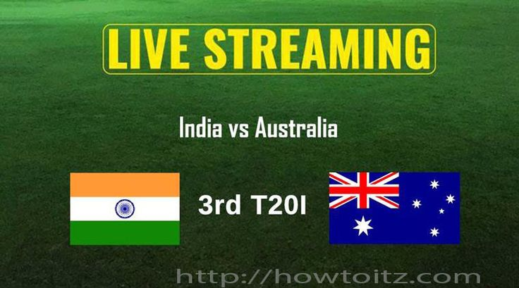 Live gushing of India versus Australia, 3rd T20 will be accessible on the web. Virat Kohli's Indian cricket group will hope to skip over from the..