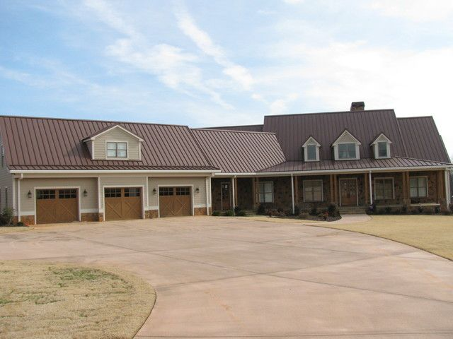 Metal Building Home w/ Ceramic Siding Imitation & Porch (7 Pictures) | Metal-Building-Homes.com