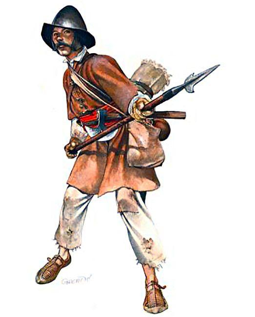 1590 c. Zvonimir Grbasic - Haramija o  soldado de infantería croata, finales del XVI