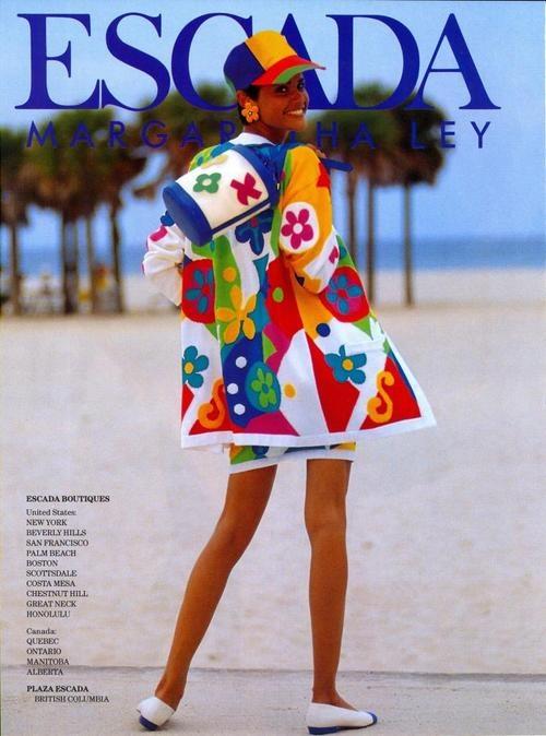 Escada ads s/s 1992 feat Nadege du Bospertus