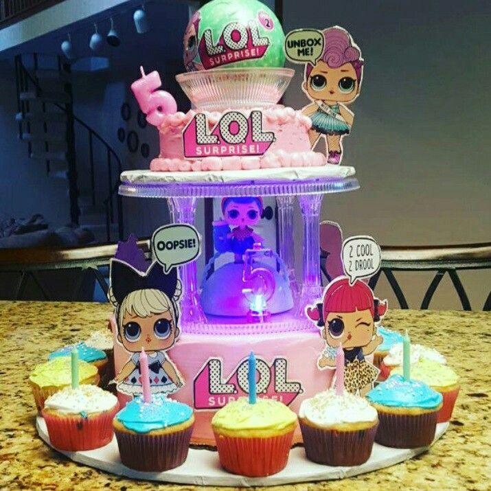 Lol Surprise Birthday Party Lol Surprise Cake And Cupcakes Lol Surprise Dolls 6th Birthday Girls Birthday Birthday Surprise Party