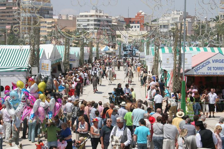 """The May fair """"Feria de Mayo"""" in Torrevieja, Spain."""