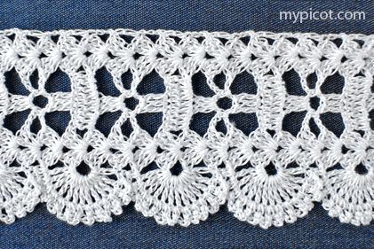 """MyPicot HOME WORK Free Pattern h018.pdf (Downloaded - SLT)  Crochet patterns from """"HOME WORK"""", ROSE PUBLISHING CO. (LTD.), 1881 """"Three Chain Lace No. 37"""""""