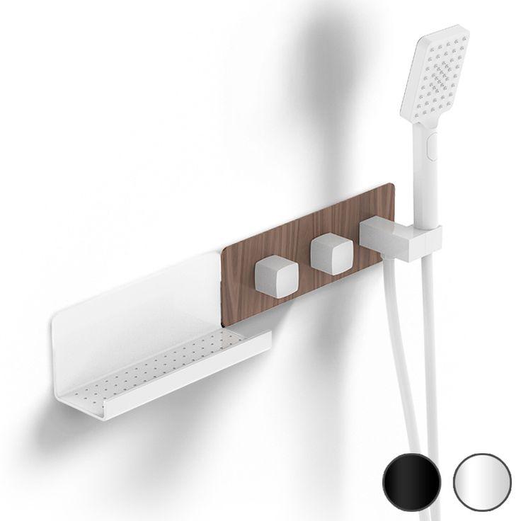 Mitigeur thermostatique douche encastré 3 voies, 2 finitions, Infinity Elements