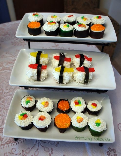 Sushi cupcakes #sushi #cupcake I'm so doing this for my husband sometime @Kathy Chan Chan Chan Coulter