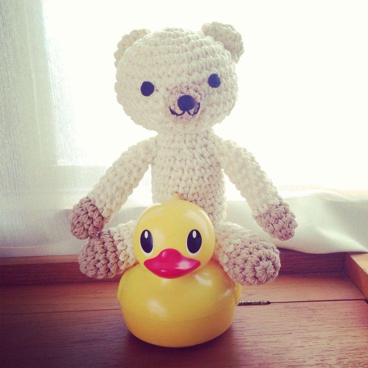 "knitting ""bear""  Organic cotton, good for babies, kids, gift, present"
