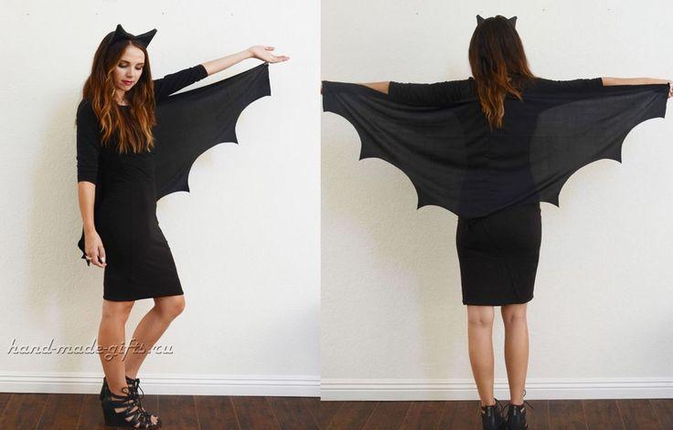 костюм летучей мыши на хэллоуин своими руками