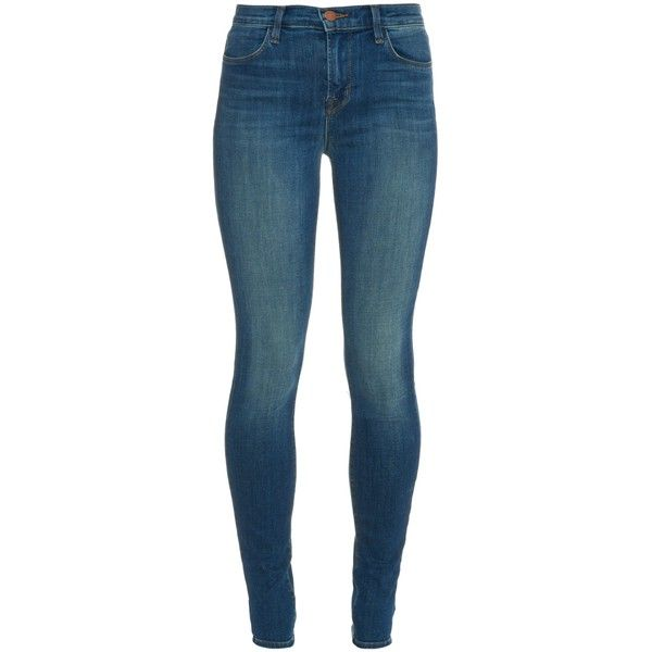 J Brand Maria high-rise skinny jeans ($238) ❤ liked on Polyvore featuring jeans, pants, bottoms, pantalones, mid indigo, j-brand skinny jeans, lined blue jeans, faded blue jeans, high rise jeans and faded jeans