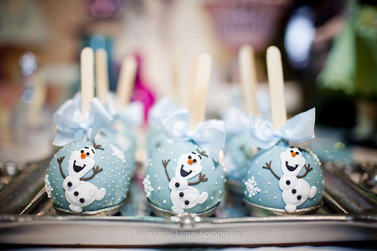 Maçãs Docices, festa frozen, frozen party