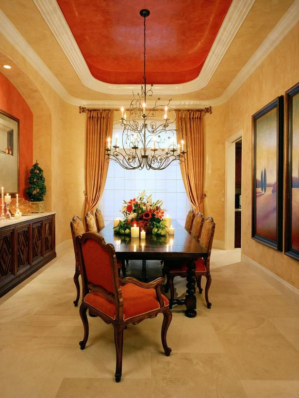 Tuscan Dining Rooms From Dorothy Willetts On HGTV Mediterranean