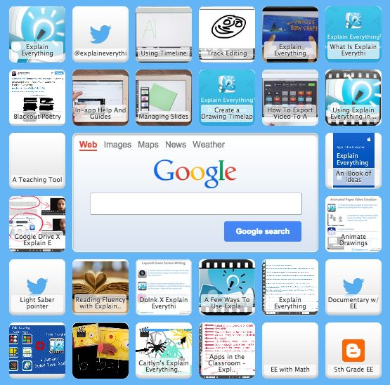 Tutorials and lesson ideas for Explain Everything in the classroom curated in a Symbaloo webmix. Check it out for great activities for the classroom!