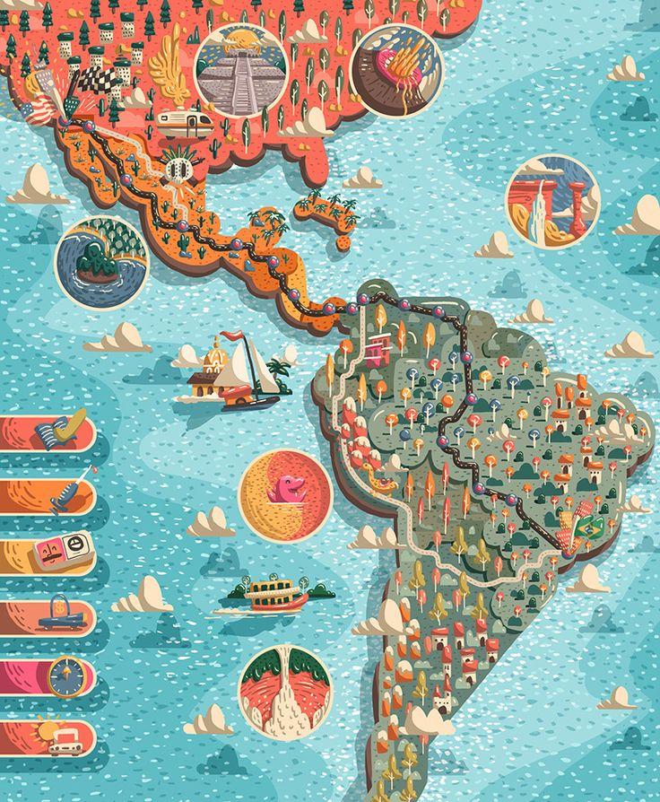 Road Trip - Brazil - USA on Behance