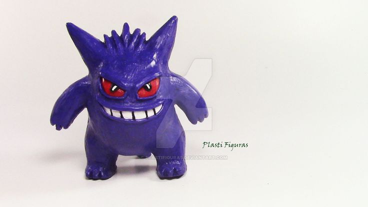 Pokemon Gengar de Plastilina (Plasticine) by PlastiFiguras.deviantart.com on…