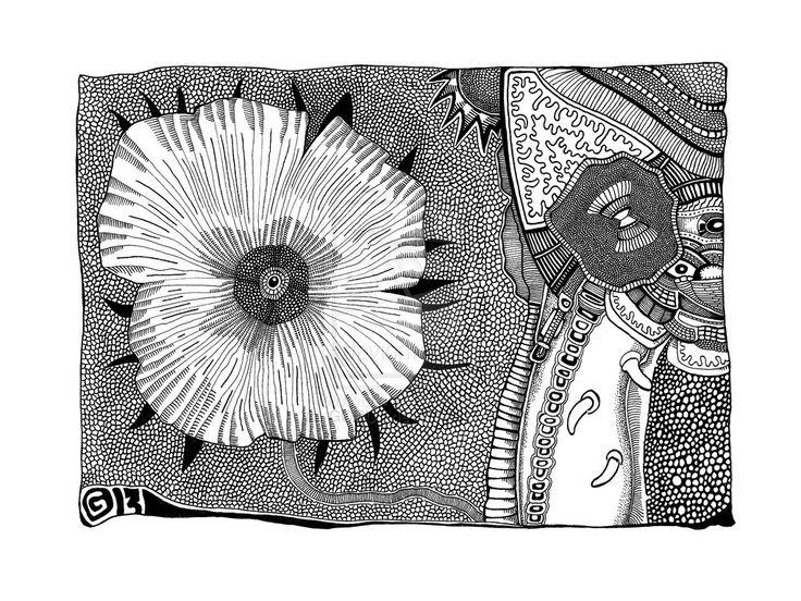 Les Fleur du Mal (2013) by GORUD.deviantart.com on @deviantART #Ink #Art #BW #Graphic #Drawing #Pen