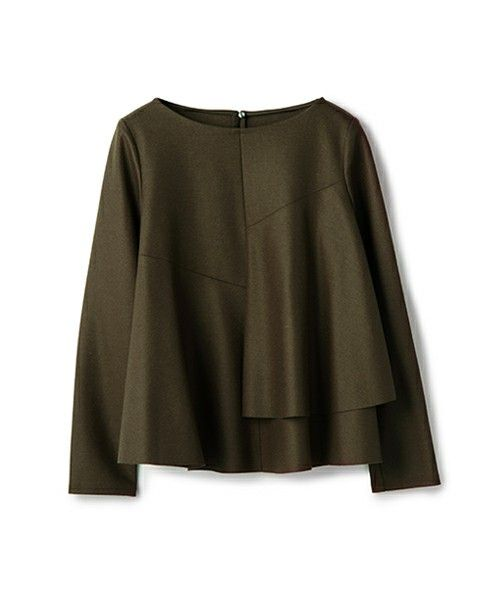 ESTNATION WOMEN(ウィメン)のESTNATION フリルプルオーバー(Tシャツ/カットソー)|カーキ