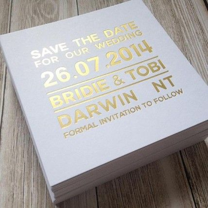Modern Gold Foil Save-The-Date