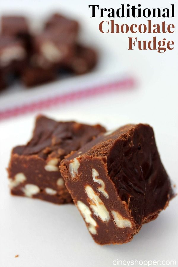This Traditional Chocolate Fudge is made the old school way with butter, milk, sugar and cocoa. Made just like it was when I was growing up (without marshma